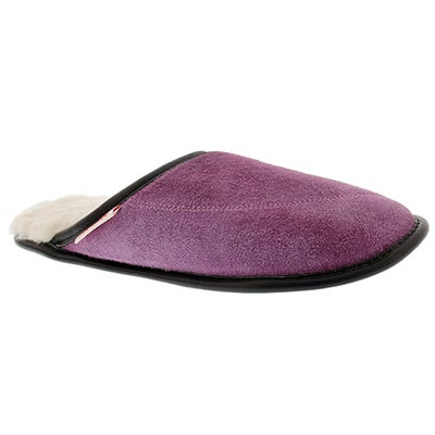 SoftMoc Women's SCUFF purple washable slippers