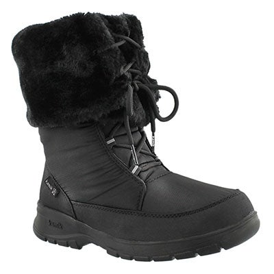 Kamik Women's SEATTLE black lace-up winter boots