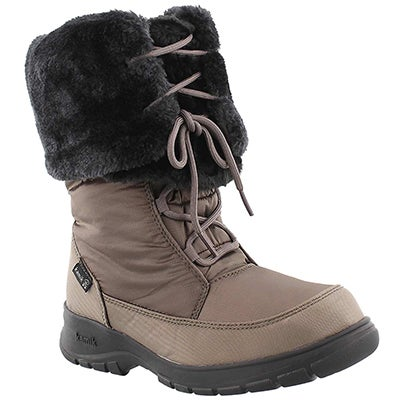 Kamik Women's SEATTLE brown lace-up winter boots