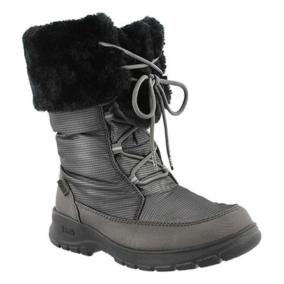 Kamik Women's SEATTLE charcoal lace-up winter boots