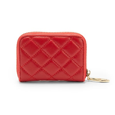 S-Q Women's 1518LE red fanned card holder