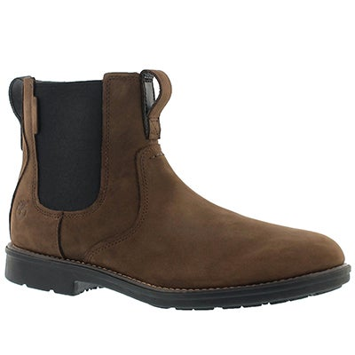 Mns Carter Notch brn chelsea boot- wide