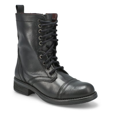 Steve Madden Women's TROOPA 4.0 black lace up combat boots