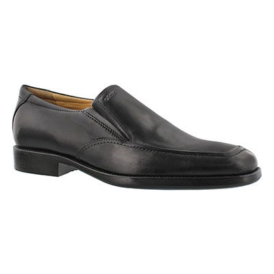 Geox Men's FEDERICO W black slip on dress shoes