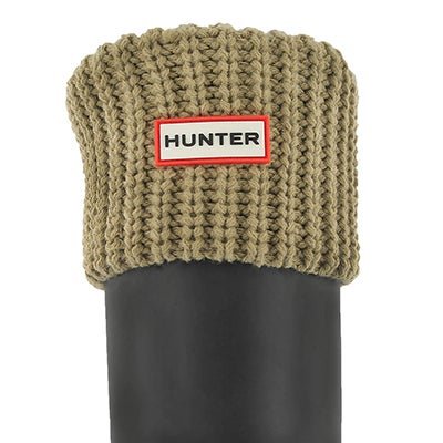 Hunter Women's HALF CARDIGAN light sand boot socks