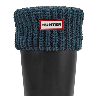 Hunter Women's HALF CARDIGAN ocean boot socks