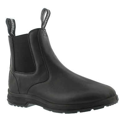 Mns Uluru black smooth chelsea boot