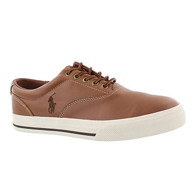 Polo Men's VAUGHN tan leather CVO sneakers