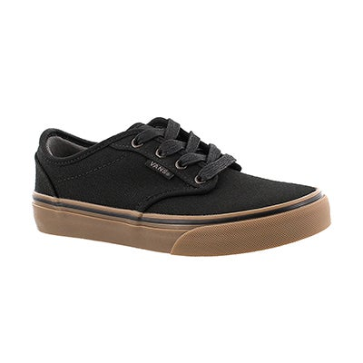Vans Boys' ATWOOD black canvas lace up sneakers