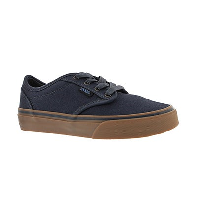 Vans Boys' ATWOOD navy canvas lace up sneakers