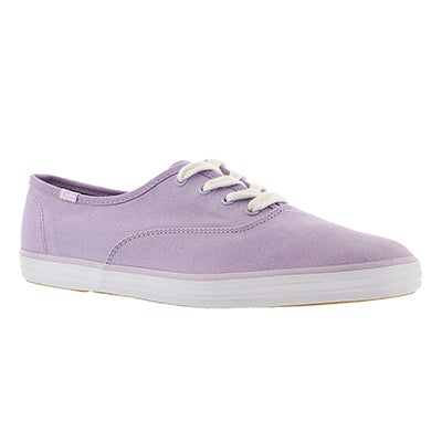 Keds Women's CHAMPION lavender canvas sneakers