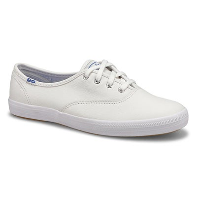 Keds Women's CHAMPION OXFORD white leather sneakers