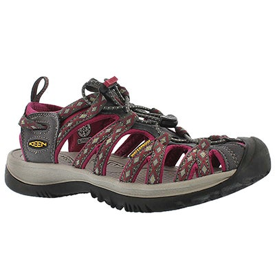 Keen Women's WHISPER magnet grey/sangria sport sandals