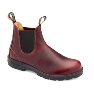 Unisex Leather Lined Redwood Pull On Boots
