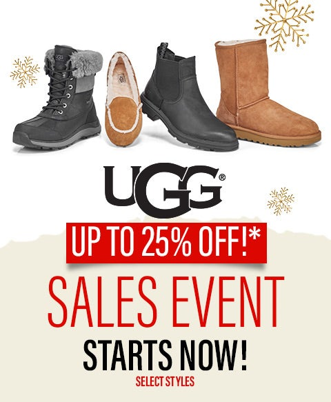 UGG - 15% OFF + Up to 25% Off select styles!