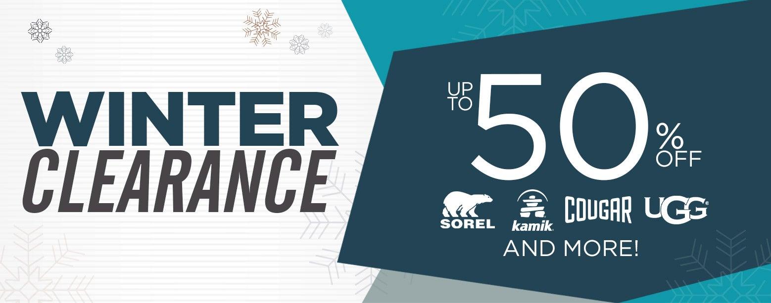 Winter Clearance - Up to 50% OFF! Sorel, Kamik, Cougar, UGG & More!