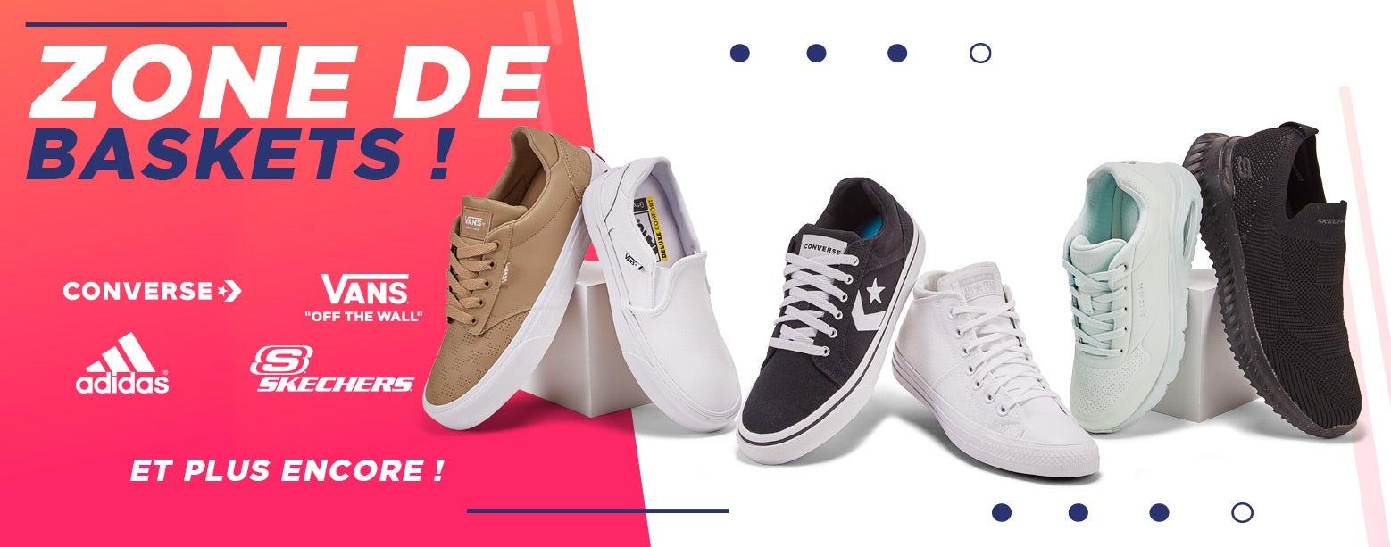 Zone de baskets ! Converse, Vans, Adidas et plus encore !