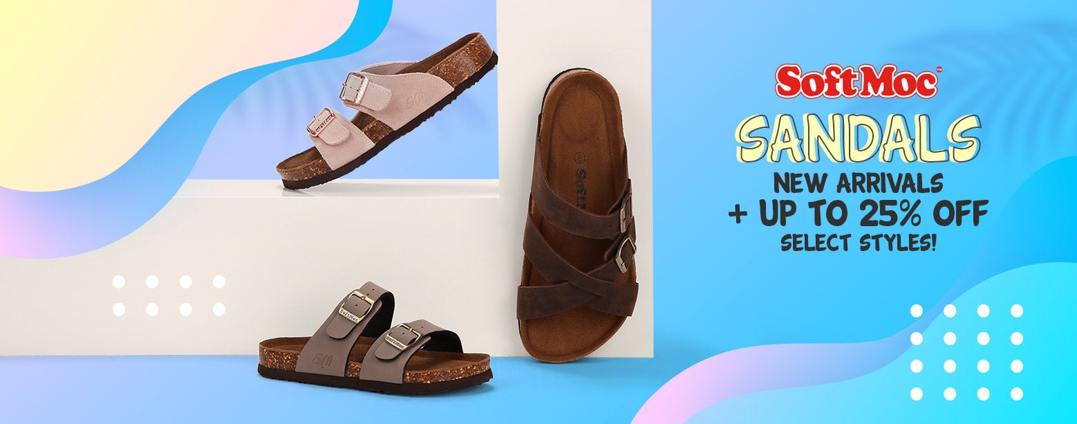 SoftMoc Sandals - New Arrivals + Up to 25% Off select styles!
