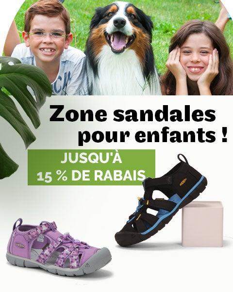 Zone sandales pour enfants !