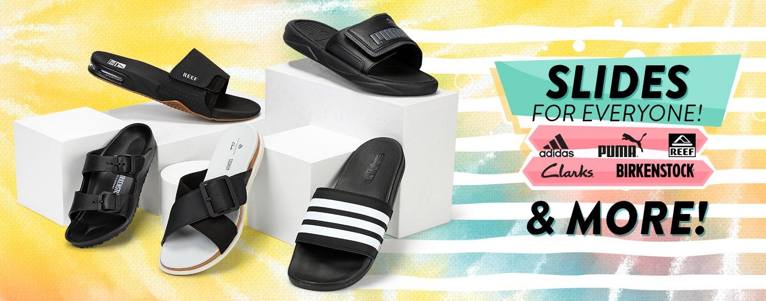 Slides for EVERYONE! Adidas, Reef, Puma, Birkenstock, Clarks & More!