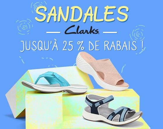 Sandales Clarks - Jusqu'à 25 % de rabais !